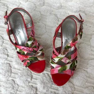 Marc Fisher Pink Floral Wedges
